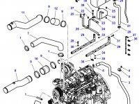 Патрубок охлаждения двигателя трактора Challenger — 4284992M2