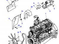 Вискомуфта вентилятора радиатора двигателя трактора Massey Ferguson — 4285398M1