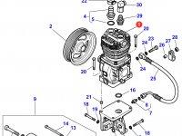 Воздушный компрессор двигателя трактора Massey Ferguson — 4286085M2