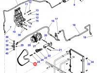 Ремень компрессора кондиционера двигателя Sisu Diesel трактора Massey Ferguson — 4286263M1