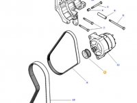 Шкив (ролик) ремня генератора двигателя трактора Massey Ferguson — 4287017M1