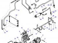 Ремень компрессора кондиционера трактора Challenger (1496 мм) — 4287376M2