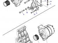 Шкив (ролик) ремня генератора трактора Challenger (Диаметр 54) — 4289357M1
