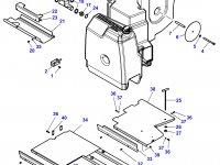 Дополнительный топливный бак трактора Challenger (№41) — 4291460M93