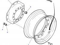 """Вставка переднего колесного диска трактора Challenger (34"""") — 4293080M1"""