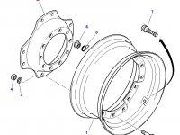 """Вставка переднего колесного диска трактора Massey Ferguson (28""""-30"""") — 4293081M1"""