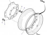 """Вставка переднего колесного диска трактора Massey Ferguson (28"""") — 4293083M1"""
