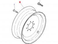 Передний колесный диск трактора Challenger (W8x16) — 4293151M91