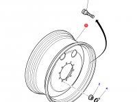 Передний колесный диск трактора Massey Ferguson (W14Lx28, полный привод) — 4293215M91