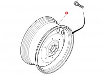 Задний колесный диск трактора Massey Ferguson (DW15Lx34) — 4293285M91
