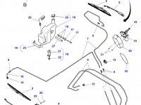 Моторчик щетки стеклоочистителя трактора Challenger — 4294850M2