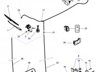 Моторчик щетки стеклоочистителя трактора Challenger — 4294854M2
