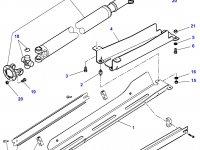 Карданный вал привода переднего моста двигателя SISU Diesel трактора Challenger — 4297163M92