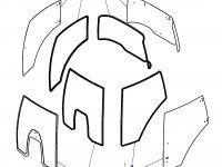 Переднее стекло кабины трактора Challenger — 4297755M93