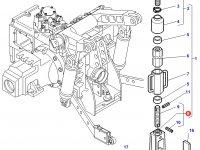 Вилка раскоса навески трактора Massey Ferguson — 4300419M91