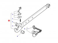 Правая тяга (с крюком) навески трактора Massey Ferguson (100x30x1000 CAT 3) — 4300800M1