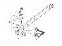 Левая тяга (с крюком) навески трактора Massey Ferguson (100x30x1000 CAT 3) — 4300801M1