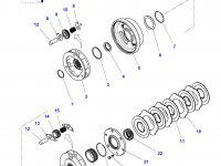 Планетарная передача мультипликатора КПП трактора Challenger — 4300891M6
