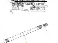 Вал отбора мощности (ВОМ) трактора Massey Ferguson — 4300912M1