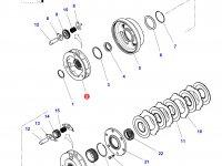 Планетарная передача мультипликатора КПП трактора Challenger — 4301216M6