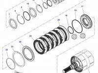 Вал двойного сцепления КПП трактор Challenger — 4301419M93