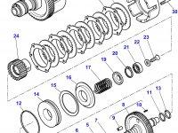 Муфта включения вала отбора мощности (ВОМ) трактора Massey Ferguson — 4302134M17