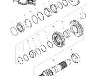 Промежуточный вал КПП трактора Massey Ferguson — 4302815M6