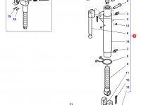Центральный винт задней навески трактора Massey Ferguson (с крюком на конце, 695/935 MM CAT 3) — 4305300M91