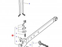 Правая тяга (с крюком) навески трактора Massey Ferguson (100x35x985 CAT 3) — 4307207M1