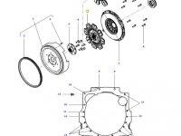 Диск сцепления КПП трактора Massey Ferguson — 4312454M1