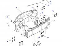 Суппорт переднего моста трактора Challenger — 4347310M91