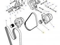 Ремень генератора двигателя трактора Massey Ferguson — 4350583M2