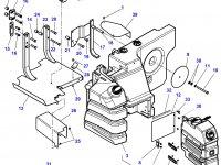 Топливный бак (в составе из двух баков) трактора Massey Ferguson — 4351183M98