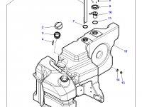 Топливный бак трактора Massey Ferguson — 4351901M94