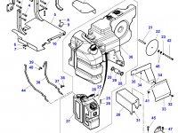 Топливный бак (в составе из двух баков) трактора Massey Ferguson — 4351911M99