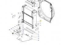 Радиатор двигателя трактора Massey Ferguson (Водяной радиатор+интеркулер) — 4352863M95