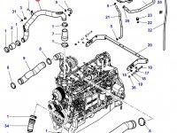 Патрубок охлаждения двигателя трактора Challenger — 4353824M4