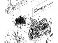 Вискомуфта вентилятора радиатора двигателя трактора Massey Ferguson — 4353860M1