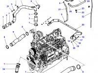 Патрубок охлаждения двигателя трактора Challenger — 4354487M2