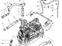 Патрубок охлаждения двигателя трактора Challenger — 4354706M1