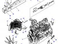 Вискомуфта вентилятора трактор Challenger — 4355175M1