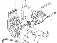 Ремень генератора двигателя трактора Massey Ferguson — 4355841M1