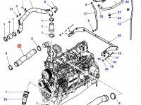 Патрубок охлаждения двигателя трактора Challenger — 4355935M3