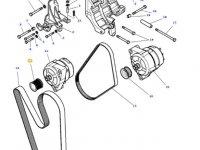 Шкив (ролик) ремня генератора двигателя трактора Massey Ferguson — 4356716M1