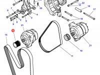 Шкив (ролик) ремня генератора трактора Challenger — 4356716M1