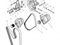 Генератор двигателя трактора Massey Ferguson — 4357550M3