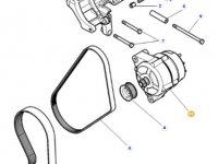 Генератор двигателя трактора Massey Ferguson — 4357844M4