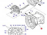 Картер КПП трактора Massey Ferguson(с сериийного номера двигателя C062022) — 4358592M1