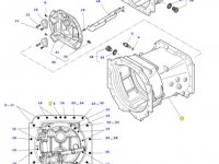 Картер КПП трактора Massey Ferguson(с серийного номера 16-11-2012) — 4358592M3