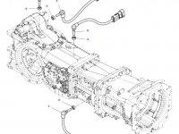 Датчик скорости оборотов ВОМ трактора Massey Ferguson (Длина 107 мм) — 4359945M1